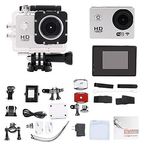Candoran Waterproof Sport Acttion Camera Kit, Durable 1080P HD Vido