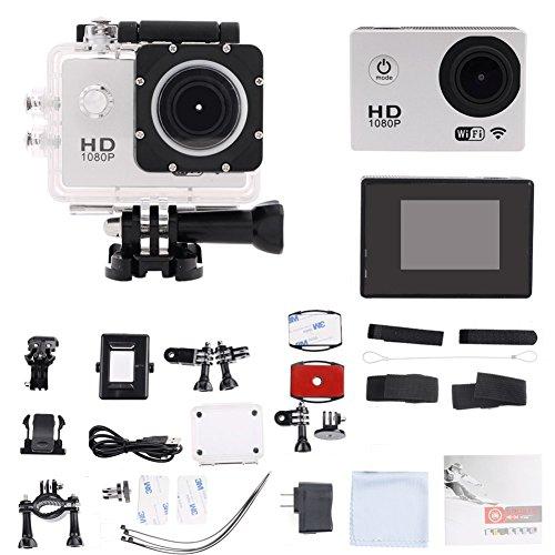 candoran Wasserdicht Sport-acttion Kamera-Kit, widerstandsfähig 1080P HD VIDO camera-1.5Zoll LCD-Display 170° Weitwinkel Objektiv–Perfekt für Fahrrad Motorrad Tauchen Schwimmen