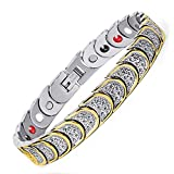 University Trendz Titanium Bio Magnetic Therapy Bracelet for Men and Women (Silver)