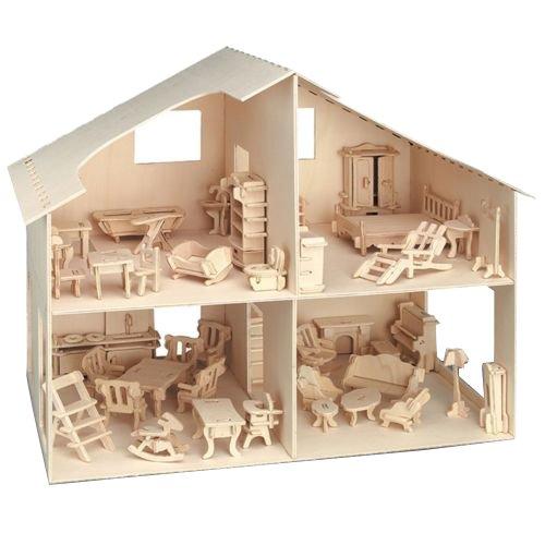 Pebaro 880 - Puppenhaus mit Möbeln