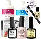 Official CND Shellac Starter Kit - Beau Farbe Starter-Set - Top & Base Coat + Essentials