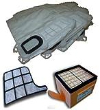 Mister vac A901 6 Staubsaugerbeutel Vlies, Hepafilter, Motorschutzfilter im Set geeignet für Vorwerk Kobold 135, 136