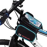 SAVA Bicicletta Della bici Frontale Superiore del Tubo Telaio Pannier Doppio Sacchetto del Sacchetto per 5.5 Pollice Mobile iPone 6/ 6s / 6 plus (Blu) - Biciclette Pannier