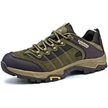 Knixmax Wanderschuhe Wasserdicht Trekking Schuhe Herren Sports Outdoor Gleitsicher Hiking Boots Men Waterproof Trekking-& Wanderhalbschuhe Dämpfung Sneaker Braun Blau Grau 41-46