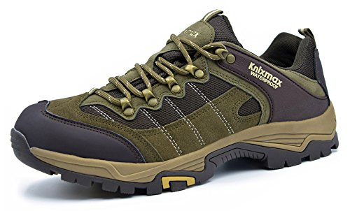 Knixmax Wanderschuhe Wasserdicht Trekking Schuhe Herren Damen Sports Outdoor Gleitsicher Hiking Boots Men Women Waterproof Trekking-& Wanderhalbschuhe Dämpfung Sneaker EU 42-(UK 8) Brown