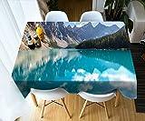 ZBGCD Tovaglie Lago Stampato degli Alberi del Picco di Montagna della Copertura di Polvere della Tavola Pranzante del Tavolo da caffè della Tovaglia Stampata 3D