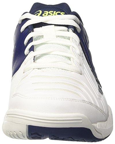 Asics Gel-Game 6, Chaussures de Tennis Homme Blanc Cassé (White/indigo Blue/safety Yellow)