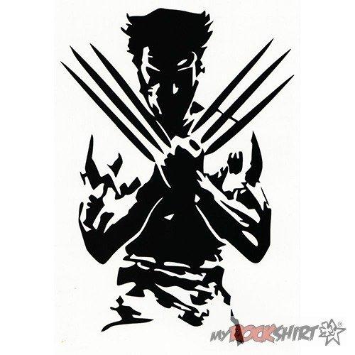 Wolverine 40 cm Aufkleber für Auto,Scheibe, Lack,Wand,Wandtattoo aus Hochleistungsfolie für alle glatten Flächen von myrockshirt® Autoaufkleber Tuning Decal Sticker (Wolverine-aufkleber)