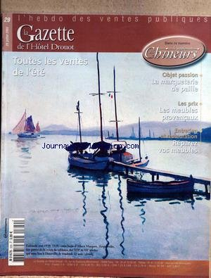 GAZETTE DE L'HOTEL DROUOT (LA) [No 29] du 22/07/2003