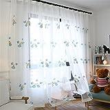 JIAJU 1-teiliger weißer Tüllvorhang für Schlafzimmer-Wohnzimmer Schiere Vorhänge Luxus-Vorhänge für Kinder Zimmer 1 STK, 3.5 * 2.7m