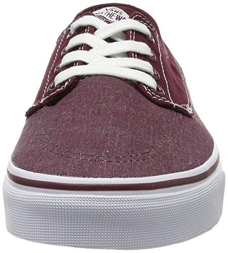 Vans Herren Ua Brigata Sneakers Rot (Washed Canvas Port Royale/white)