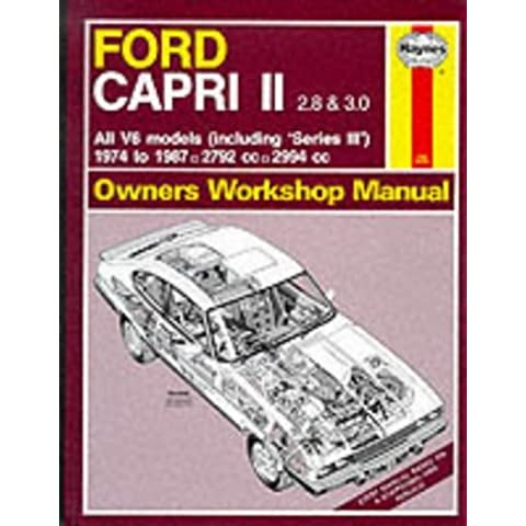 Ford Capri II All V6 Models 1974-87 Owner's Workshop Manual (Service & repair manuals) by A. K. Legg (1-Sep-1988) Paperback - V6 K & N Aria