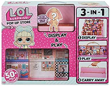 Exclusive Doll LOL Surprise Pop Up Store 3 In 1 Play Set Display Case