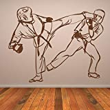 Karate Fight Wall Sticker Martial Arts Wall Decal Boys Bedroom Home Decor