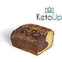 KetoUp: Low carb Marmorkuchen - Bestens geeignet für die ketogene und Low Carb Ernährung | Gesunde Ernährung | enthält maximal 2,2 % Kohlenhydrate | 450 Gramm | versandkostenfreie Lieferung innerhalb Deutschlands ab einem Bestellwert in Höhe von 20€