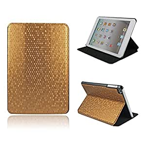 Golden copper Hexagon Pattern Leather Case Cover with Stand for Apple iPad mini