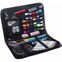 ofoen Kit de costura, 91piezas Set de costura portátil hogar caja de costura Mini hogar hilo de coser carretes de varios colores para el hogar viajar emergencia uso