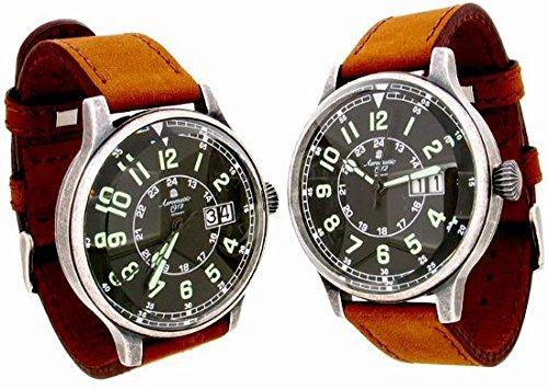 Aeromatic 1912 A1254B Aeromatic A1254B - Reloj , correa de cuero color marrón