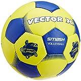 Vector X Smash Pu 32P Volleyball (Yellow/Blue)