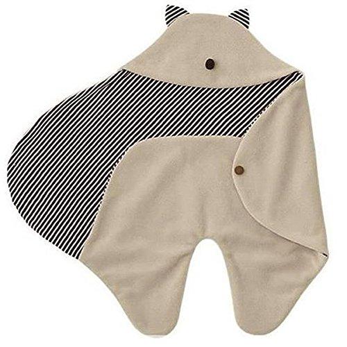 Foxnovo Cute Cartoon geformt Multifunktions weichem Fleece Neugeborenen Baby Wickeltisch Decke Wrap Buggy Babyschlafsack