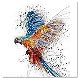 Malen nach Zahlen DIY Kit - Enthält Pinsel, Farben und Nummerierte Leinwand - Schöner Papageientanz 16×20 Zoll Rahmenlos - Ideal für Kinder und Erwachsene