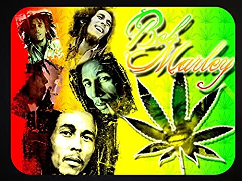 Mouse Mat for Computer PC Laptop Anti-Slip Mousepad Mouse Pad Various Designs MM4 (Bob Marley)
