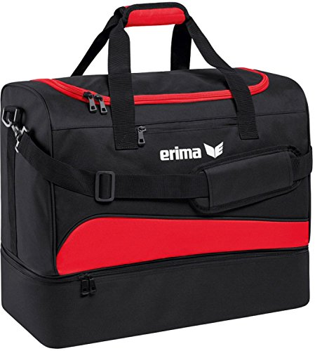 erima Sporttasche mit Bodenfach Sporttasche, 50 cm, 56 Liter, rot/schwarz