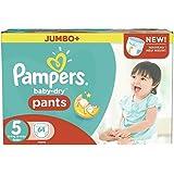 Taille 5 Boîte De Jumbo De Baby-Secs Pantalons De Pampers 64 Couches