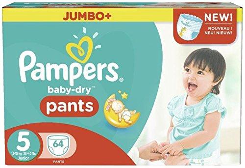 Pampers Baby Dry Pants Größe 5 Junior 12-18kg Jumbo Plus Pack 64 Windeln
