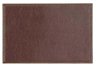 Lifestyle simili cuir marron extra large set de table for Set de table marron