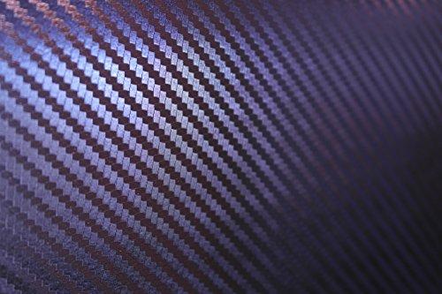 Chameleon 3 D Carbon Blau wird zu Lila Autofolie 100x152cm Blasenfrei mit Luftkanäle Gratis Montageanleitung 15,99€/1qm (Lila Carbon)