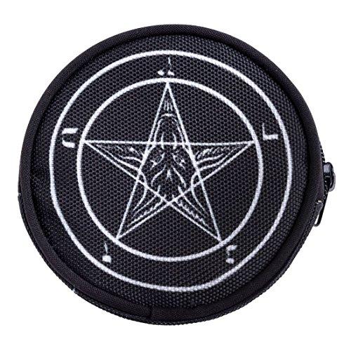 dbörse mit Reißverschluss Taschenorganizer Münzbörse Pentagram [041] (Hello Kitty Marihuana-zubehör)