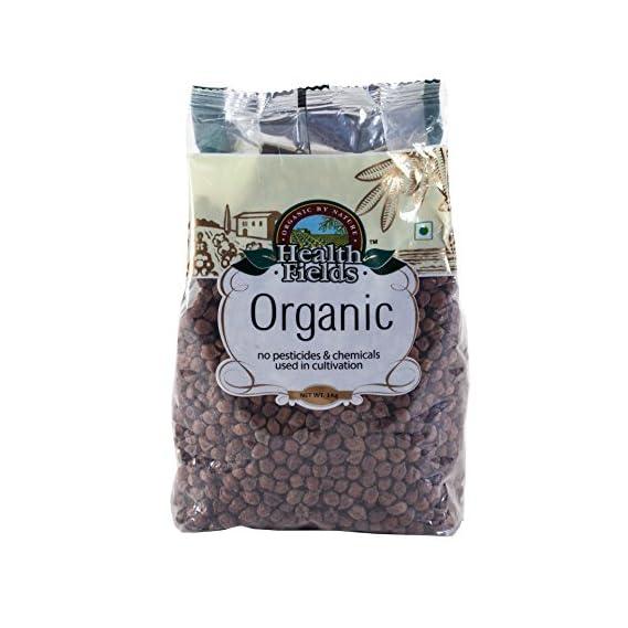 Health Fields Organic Kala Chana Whole 2 Kg (2 Pack of 1 Kg)