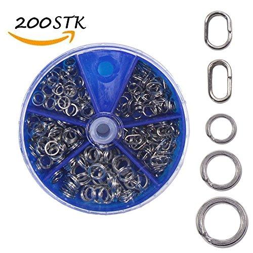 Croch 200pezzi rostfrei spreng anelli in acciaio inox in scatole da 4mm di 8mm