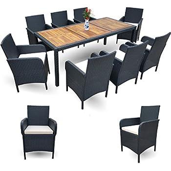 Gartenmöbel Set 8 Personen amazon de xxxl polyrattan esstisch set gartenmöbel sitzgruppe