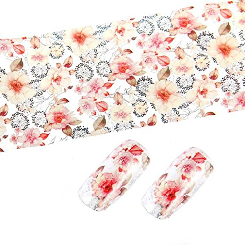 Ouneed® 1pc Style Nail Art Foil Stickers Transfer Decal Tips Manicure 4*100cm