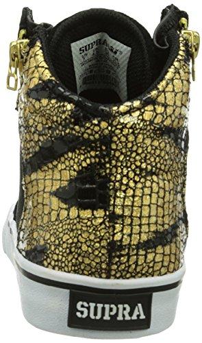 Supra - Sneaker, Donna Nero (Schwarz (BLACK/GOLD - WHITE   BKG))
