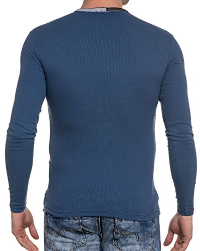 BLZ jeans - Shirt mit V-Ausschnitt Langarm blau Blau
