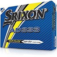 Srixon AD333 Tour Yellow Golf Balls – 2018 – New – 1 Dozen – Yellow