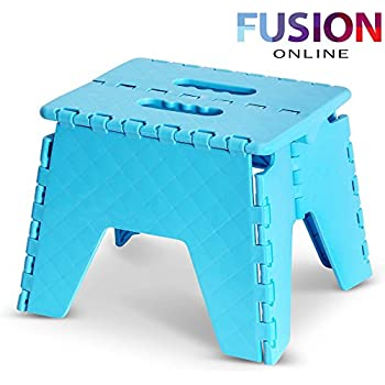 FOLDABLE FOLDING STURDY STEP STOOL HOME KITCHEN GARAGE CARRY MULTI PURPOSE STOOL Fusion (TM) (Blue)  sc 1 st  Amazon UK : jml folding plastic step stool - islam-shia.org