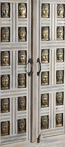 The Wood Times Kommode Highboard Schrank Massiv Vintage Look Buddha Mangoholz, FSC Reycelt, BxHxT 85x138x45 cm - 2