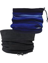 Men's Fully Reversible Stripy Thermal Knitted Fleece Snood