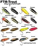 FTM Spoon Boogie Forellenblinker 1,6g - Blinker zum leichten Spinnfischen auf Forelle, Forellenköder für Forellenteich & See