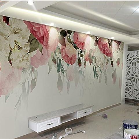 HUANGYAHUI Garten Blumen, personalisierte kreative Tapeten, Tapete, Tapeten, Schlafzimmer Schlafzimmer TV, Wandbilder-450 cmX315cm