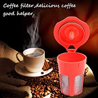 LussoLiv 1 Pack Orange Refillable K-Carafe Reusable Coffee Filter Replacement For Keurig