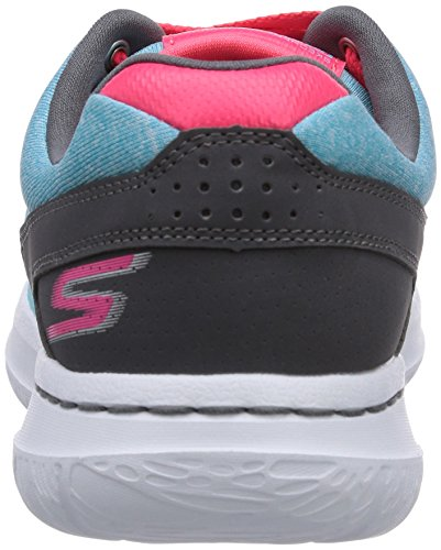 Skechers Go Walk City Uptown, Baskets mode femme Bleu - Blau (AQUA)