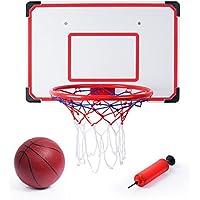 General SGILE Mini Aro de Baloncesto, Mini Aro y Bola de Baloncesto Interior y Exterior Durable y Ajustable, Regalo para Niños