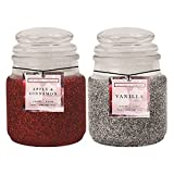 1x Navidad Purpurina vela aromática en tarro Candle- plata vainilla o rojo Apple & cinnamon- se envía al azar