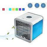 Condizionatore Portatile, 3-in-1 Mini Raffrescatore Evaporativo Umidificatore Purificatore D'aria [Senza Freon & Eco-friendly] USB Climatizzatore con Raffreddamento ad Acqua per Casa/Ufficio/Camper/Garage (bianco)