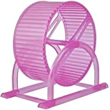 12.5 Cm Jumbo Running Cum Jogging Cum Exercise Wheel For Hamster / Dwarf / Gerbil / Mice / Mouse (Pink)